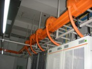 橘红色光纤槽道
